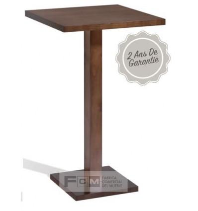 Table hôtellerie merlot haute 70x70