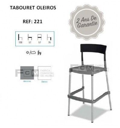Tabouret hôtellerie Oleiros