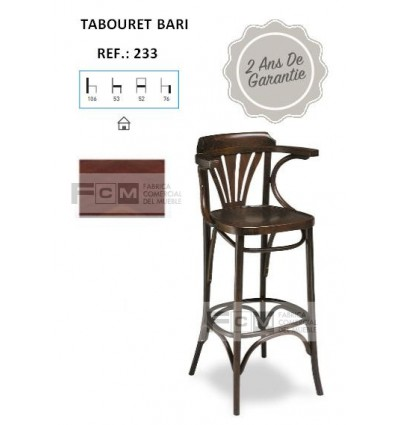 Tabouret hôtellerie Bari