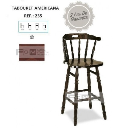 Tabouret hôtellerie Americana